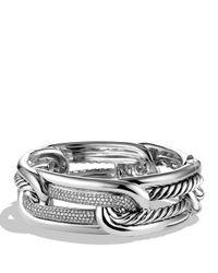 David Yurman - Metallic Labyrinth Link Bracelet With Diamonds - Lyst