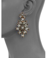 Oscar de la Renta | Gray Bridal Navette Drop Earrings | Lyst