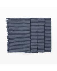Club Monaco - Blue Yarn-Dyed Scarf for Men - Lyst