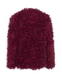 TOPSHOP - Red Heidi Fluffy Jacket By Wyldr - Lyst