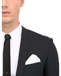 Dior Homme - Black Two Buttons Wool Toile Suit for Men - Lyst