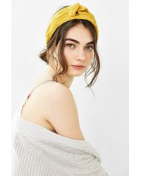 Urban Outfitters | Yellow Sienna Knotted Silk Headwrap | Lyst
