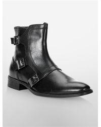 Calvin Klein - Black White Label Stark Triple Monk Strap Boot for Men - Lyst