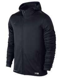 Nike | Black Men's Graphic Knit Full-zip Football Hoodie for Men | Lyst