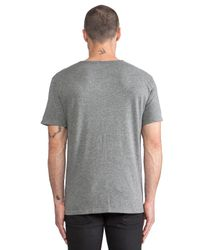 T By Alexander Wang - Gray Classic Low Neck Tee for Men - Lyst