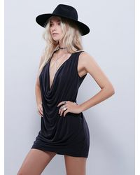 Free People | Black Womens Pillow Talk Mini Dress | Lyst