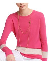 Tory Burch - Metallic Toggle Long Necklace - Lyst