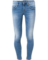 People - Blue Skinny Fit Jeans - Lyst