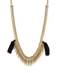 Rebecca Minkoff - Metallic Fringed Chain Necklace - Lyst
