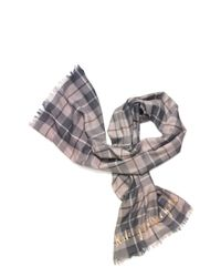 kate spade new york - Natural Woodland Plaid Oblong Scarf - Lyst