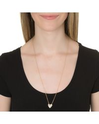 Alexa Leigh | Pink Open And Closed Heart Necklace | Lyst