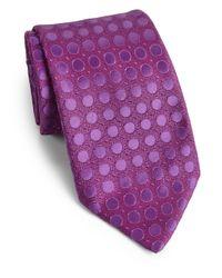 Charvet - Purple Dot Silk Tie for Men - Lyst