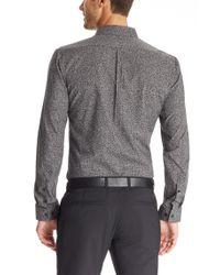 HUGO | Gray 'ero' | Slim Fit, Cotton Button Down Shirt for Men | Lyst
