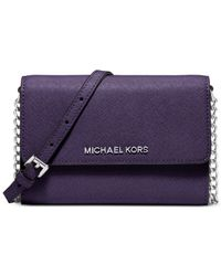 Michael Kors | Purple Michael Jet Set Travel Large Phone Crossbody | Lyst