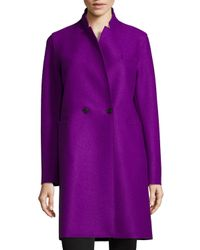Harris Wharf London | Purple Double-faced Two-button Wool Coat for Men | Lyst