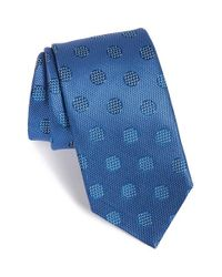 David Donahue | Blue Dot Silk Tie for Men | Lyst
