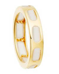 Astley Clarke | Metallic Gold-plated Moonstone Prismic Slice Ring | Lyst