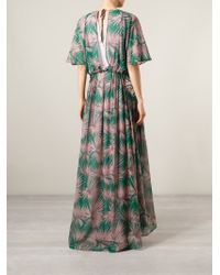 MSGM   Green Long Dress   Lyst