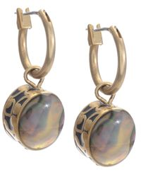 Kenneth Cole | Metallic Gold-tone Abalone Drop | Lyst