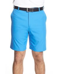 Peter Millar | Blue 'salem' Flat Front Shorts for Men | Lyst