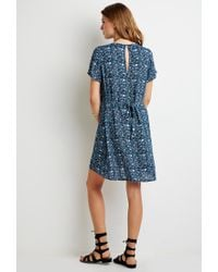 Forever 21 | Blue Floral Button-front Dress | Lyst