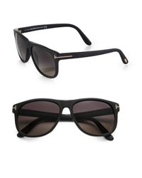 Tom Ford Black Olivier Acetate Sunglasses for men