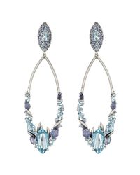 Alexis Bittar - Blueberry Marquis Cluster Link Clip Earring With 18K Gold Marquis - Lyst
