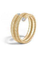 John Hardy - Metallic Classic Chain 18k Double Coil Diamond Bracelet - Lyst