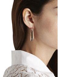 Eddie Borgo | Pink Rose Gold Plated Fringe Earrings | Lyst
