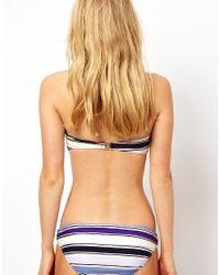 French Connection | Blue Stripey Sandy Ring Bikini Bottom | Lyst