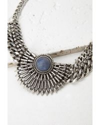 Forever 21 - Blue Faux Stone Statement Necklace - Lyst
