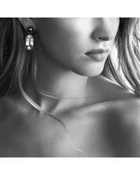 David Yurman - Chatelaine Doubledrop Earrings with Green Onyx and Smoky Quartz - Lyst
