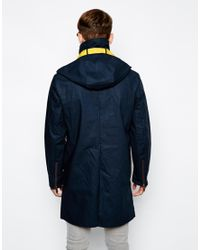 ELEVEN PARIS - Blue Hooded Mac for Men - Lyst