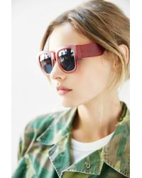 Urban Outfitters - Red Becker Square Sunglasses - Lyst
