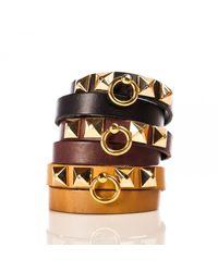 Linea Pelle | Black Grayson Double Wrap Bracelet | Lyst