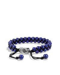 David Yurman - Metallic Spiritual Beads Tworow Bracelet with Lapis Lazuli for Men - Lyst