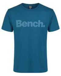 Bench | Blue Corporation Logo Crew Neck Regular Fit T-shirt for Men | Lyst