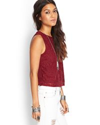 Forever 21 - Embroidered Woven Top - Lyst
