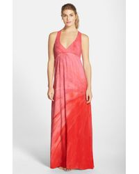 Hard Tail   White Twisted-Back Maxi Dress   Lyst
