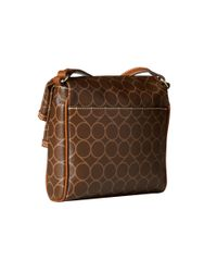 Nine West - Brown Prim And Proper Crossbody - Lyst