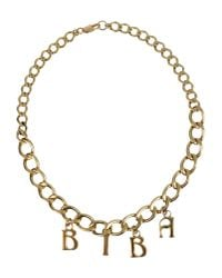Biba - Metallic Necklace - Lyst