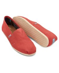 TOMS - Red Salmon Mens Canvas Classics - Lyst