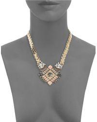 Catherine Stein | Metallic Rhinestone Pendant Necklace | Lyst