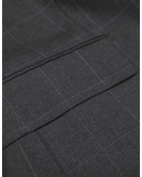Jules B - Gray Two Piece Windowpane Check Suit for Men - Lyst
