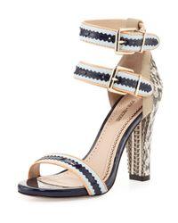 Pour La Victoire - Black Veronica Ankle-Wrap Sandal - Lyst