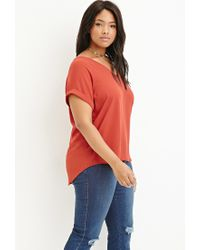 Forever 21 | Red Plus Size Crepe Dolman Top | Lyst