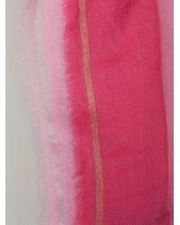 Faliero Sarti - Pink Metallic Stripe Scarf - Lyst