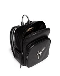 Giuseppe Zanotti - Black Perforated Leather Backpack for Men - Lyst