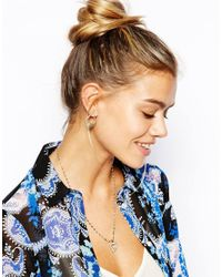 ASOS - Metallic Limited Edition Mini Safety Pin Stud Earrings - Lyst