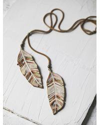 Free People - Natural Feather In The Wind Lari - Lyst